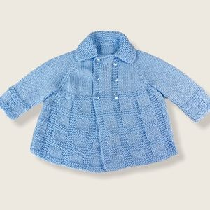 Hand Knit 6-12M Double Breasted Cardigan